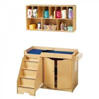 Toddler Changing Table and Wall Mounted Storage