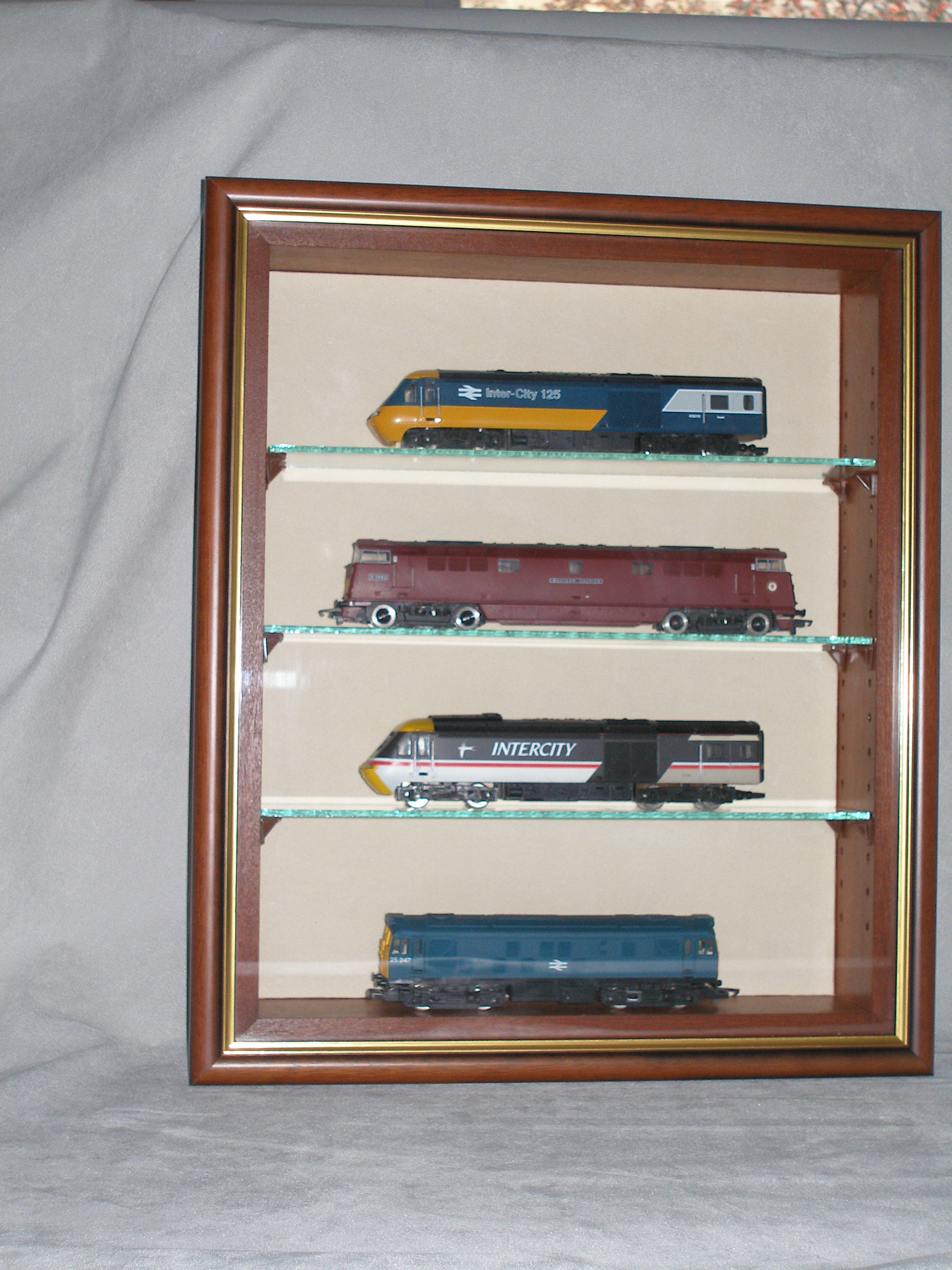 Model Display Cases Wall Display Of Trains Dsc Showcases