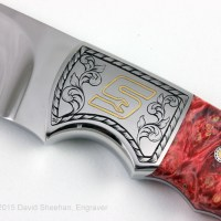 Gold Inlay Knife Engraving
