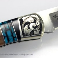 Hand Engraved Buck Knife