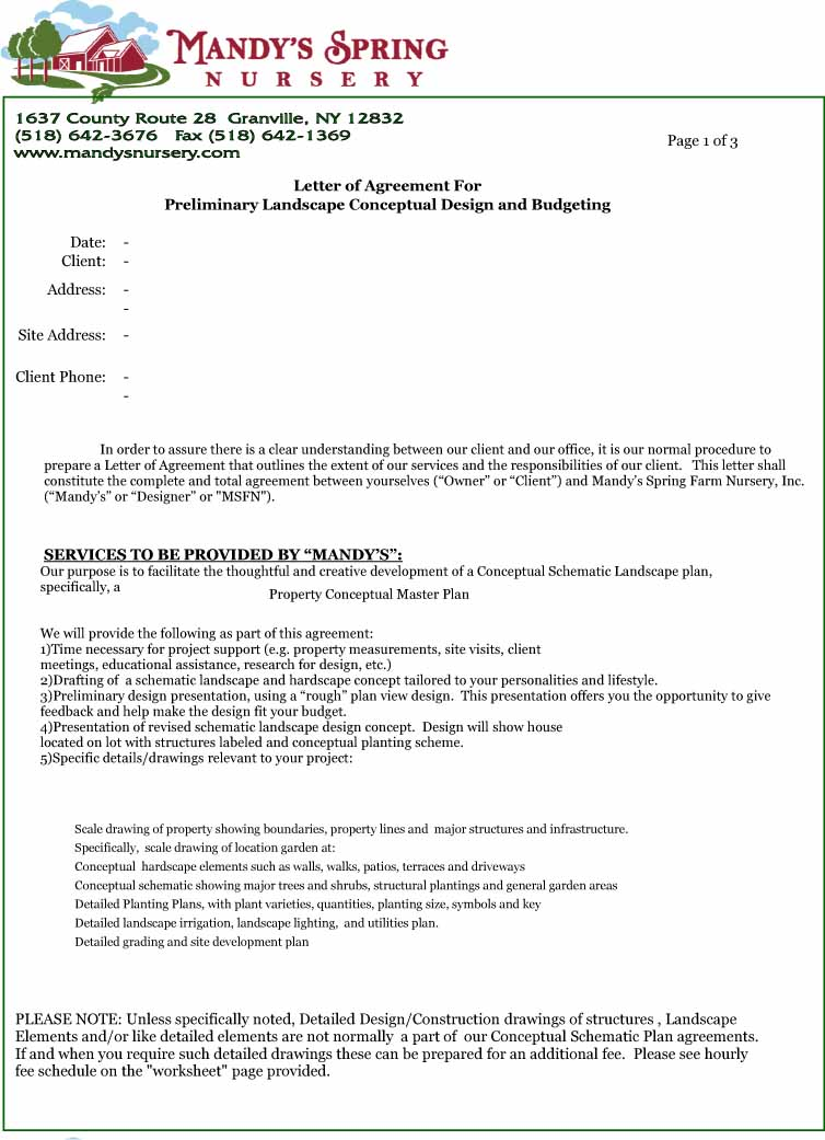 Home Staging Definition Letter-of-agreement-design
