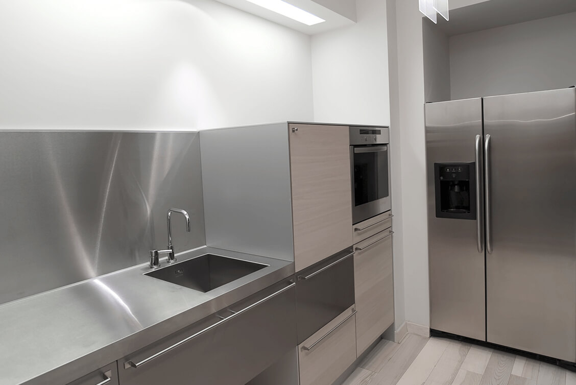 Stainless Steel Splashback Stainless Steel Splashbacks Bespoke Metal Splashbacks