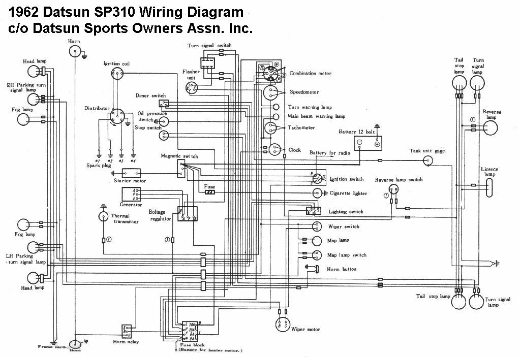 alternator wiring diagram datsun 1600