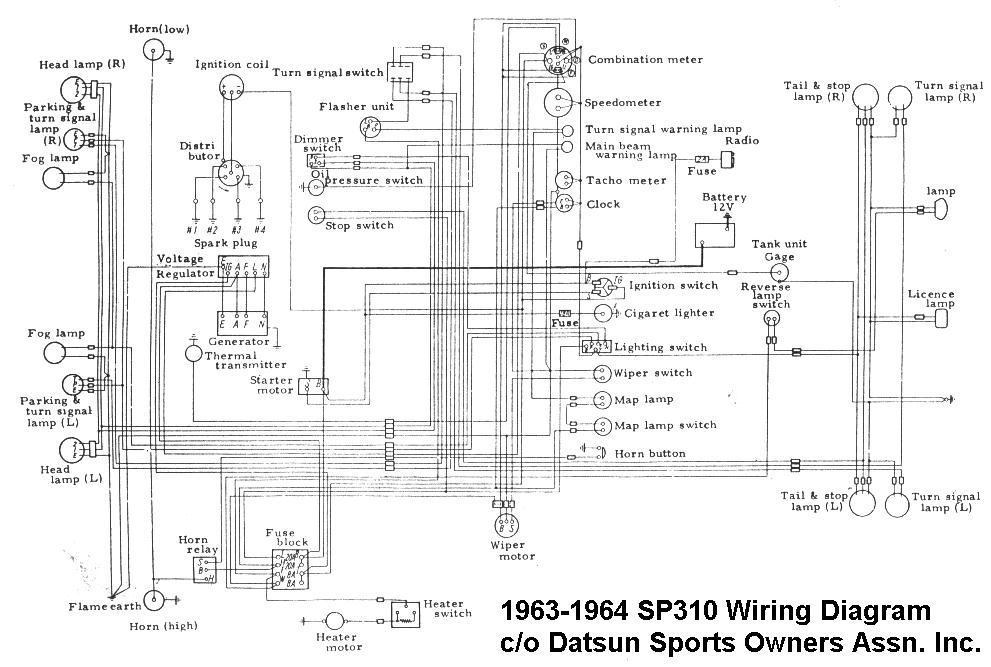 datsun roadster wiring diagram