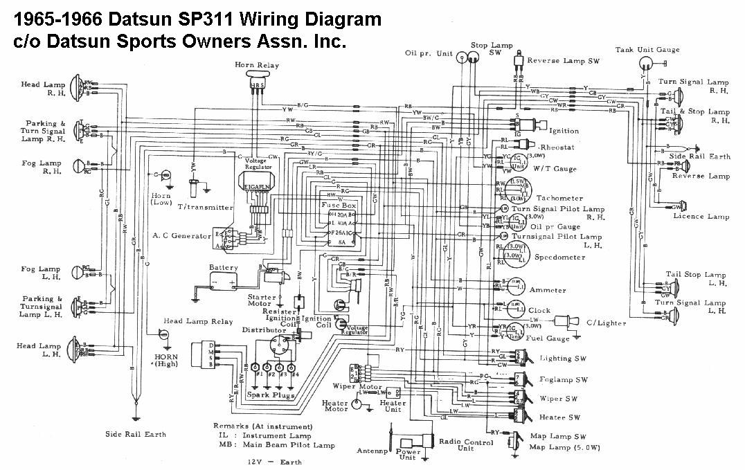 1969 Datsun 1600 Wiring Diagram Index listing of wiring diagrams