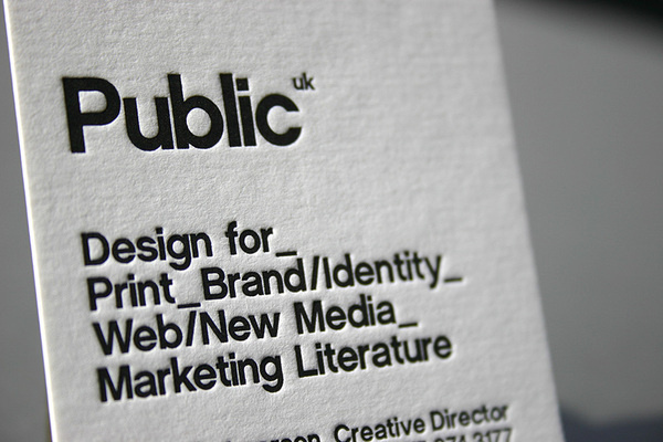 Best Letterpress Business Card Black White images on Designspiration - letterpress business card