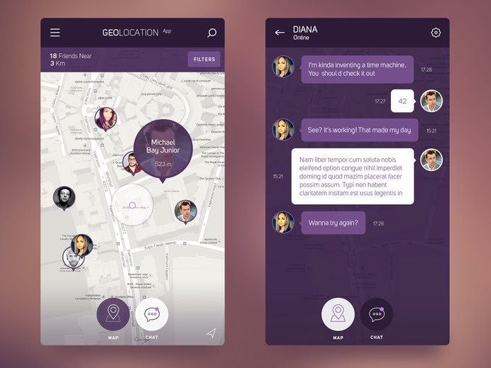 Best App Interface Ios 8 Geolocation images on Designspiration
