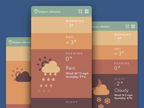 Best Mobile Ui Inspiration Weather App images on Designspiration