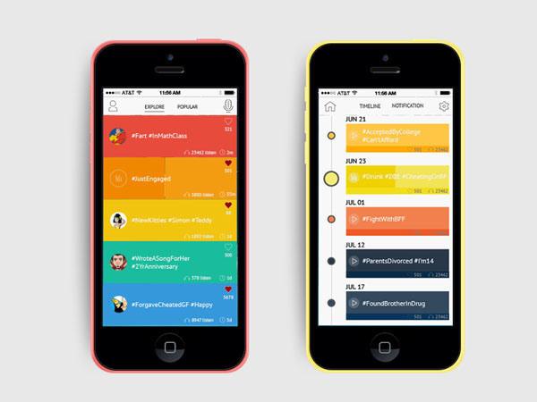 Best Mobile Ui Inspiration Timeline Apps images on Designspiration