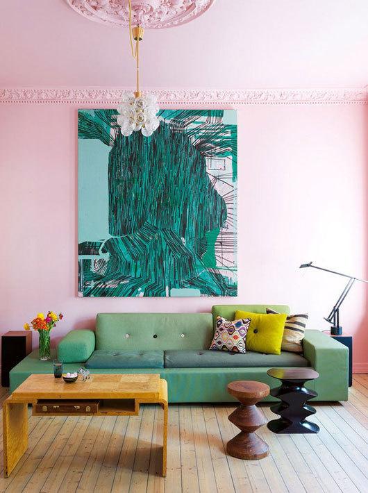 Pink living room elle decor espana in Interior Design - elle decor living rooms