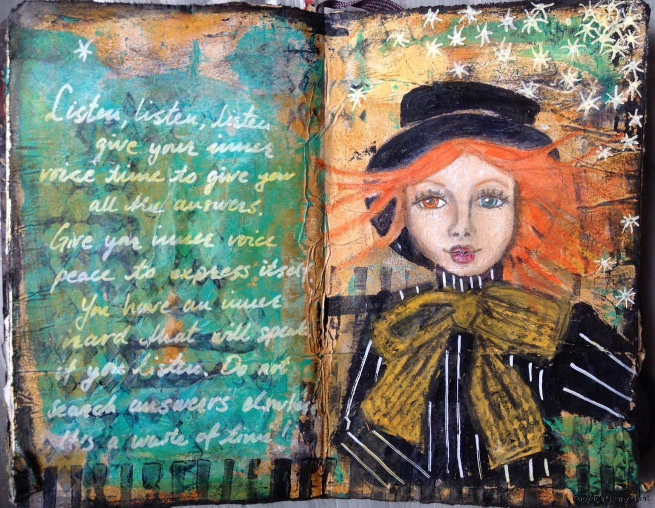 Art Bild Art Journal Mixed Media Art By Jenny Grant