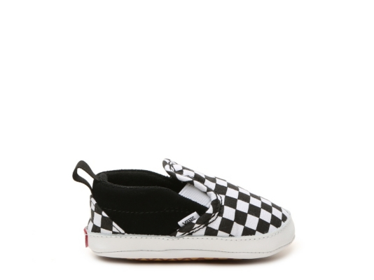 Newborn Shoes Vans Checkered Slip On Infant Crib Shoe