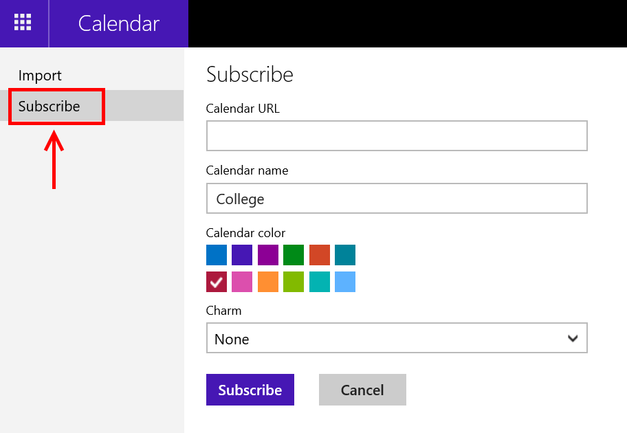 Add Calendars To Windows 10 Calendar App Mail And Calendar For Windows 10 Faq Outlook How To Add Ical Feed To Windows 10 Calendar App Tip