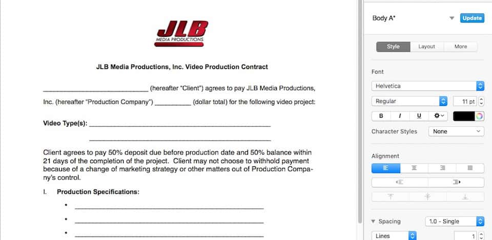 What To Look for In Video Production Contracts JLB Media Productions - contract important elements