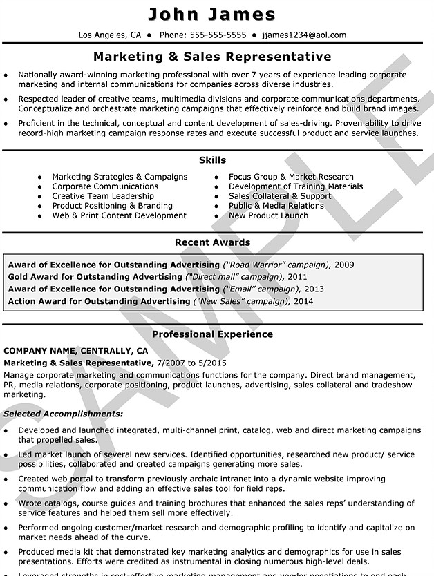 Sample Resumes Outstanding Care Agency
