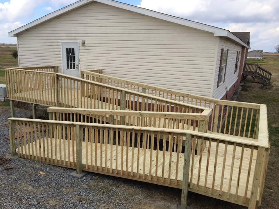 Mobile Home Skirting Deck For Mobile Home | Pool Decking Options | Gable Porch - Ready Decks