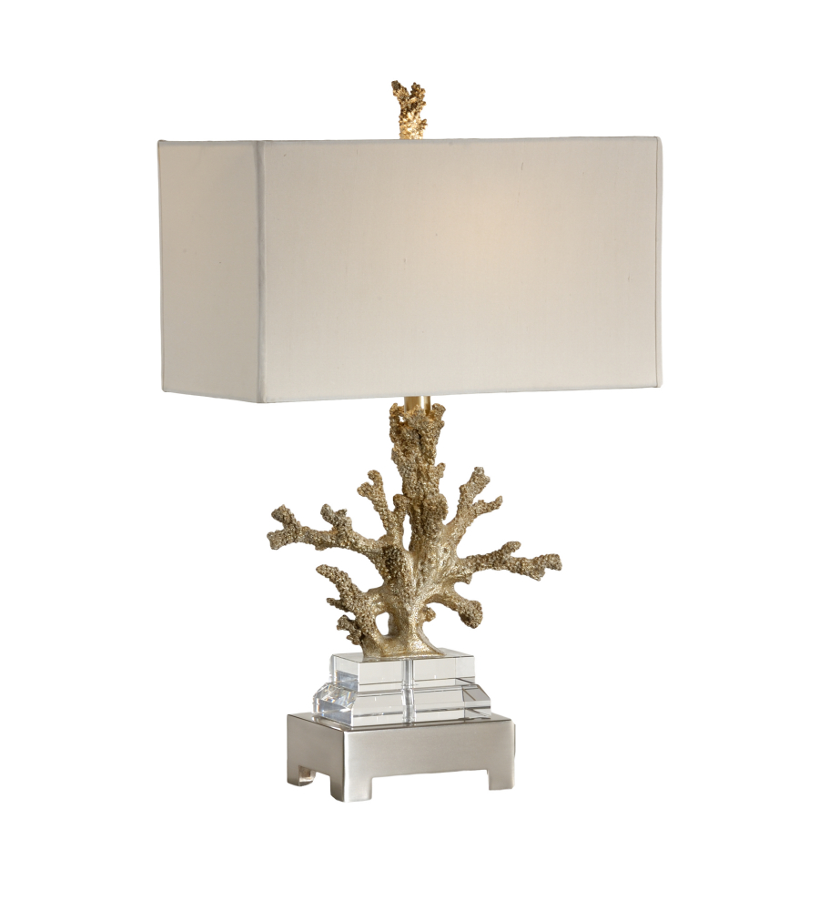 Coastal Lamps Wildwood Lamps 13125 Coastal Coral Colony Lamp In Champagne