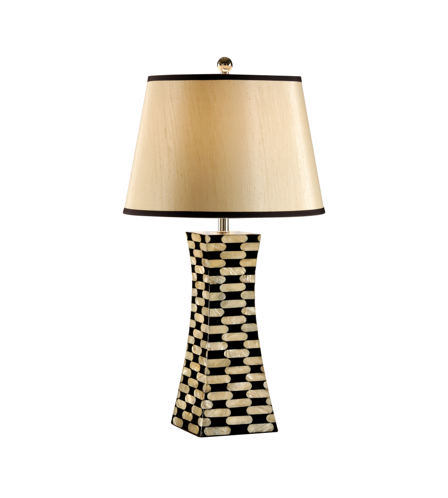 Coastal Lamps Wildwood Lamps 13128 Coastal Pearls Pylon Lamp In Mother Of Pearl Inlay