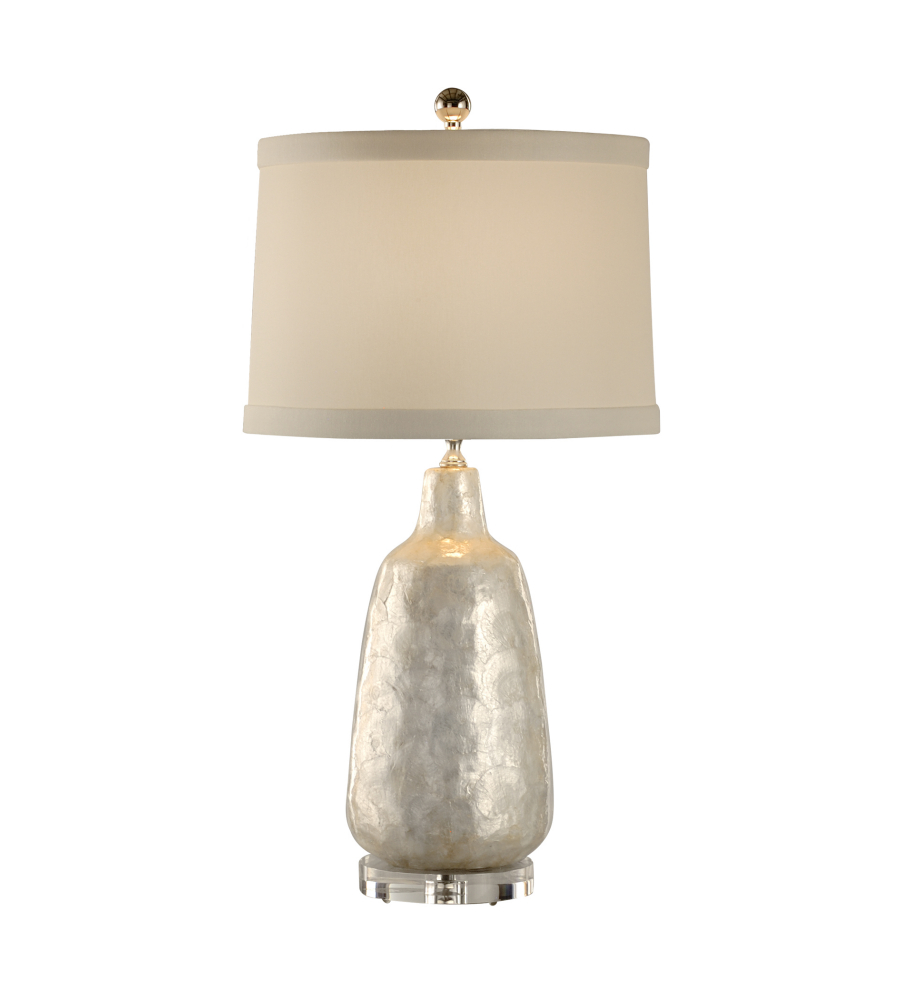 Coastal Lamps Wildwood Lamps 13132 Coastal Shell Covered Urn Lamp In Natural Shell