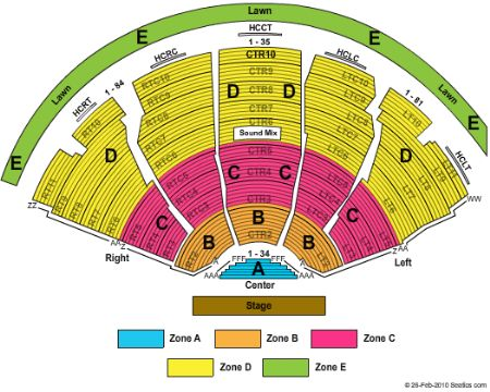 DTE Energy Music Theatre Seating Chart DTE Energy Music Theatre
