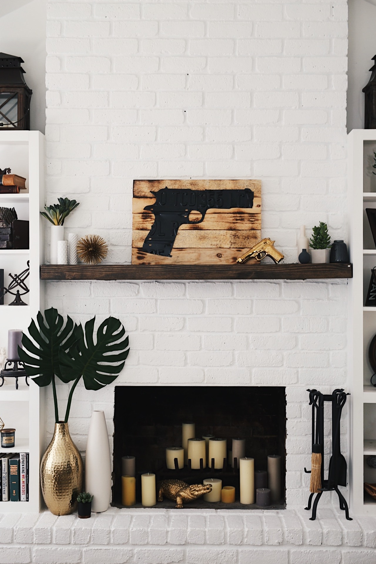 Incredible How To Paint A Brick Fireplace How To Easily Affordably Paint A Brick Fireplace Dressed Brick Fireplace Mantle Brick Fireplace Black Mantle houzz-02 White Brick Fireplace