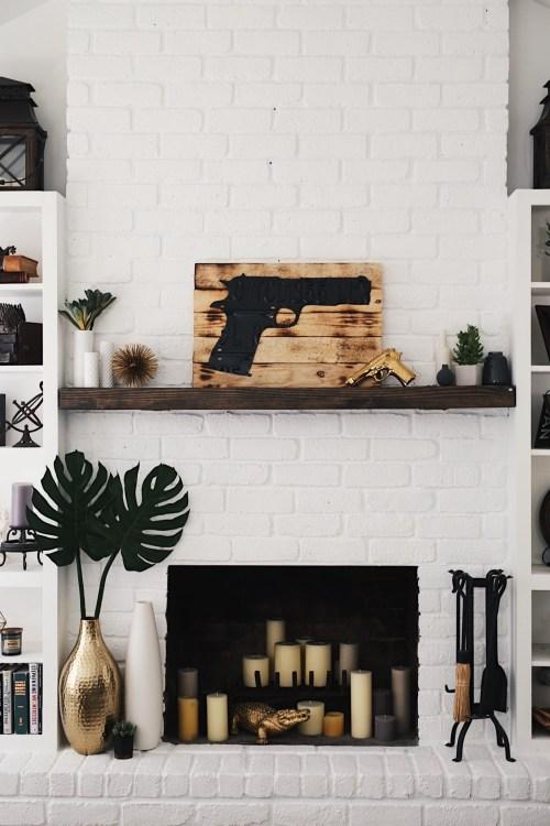 Medium Of White Brick Fireplace