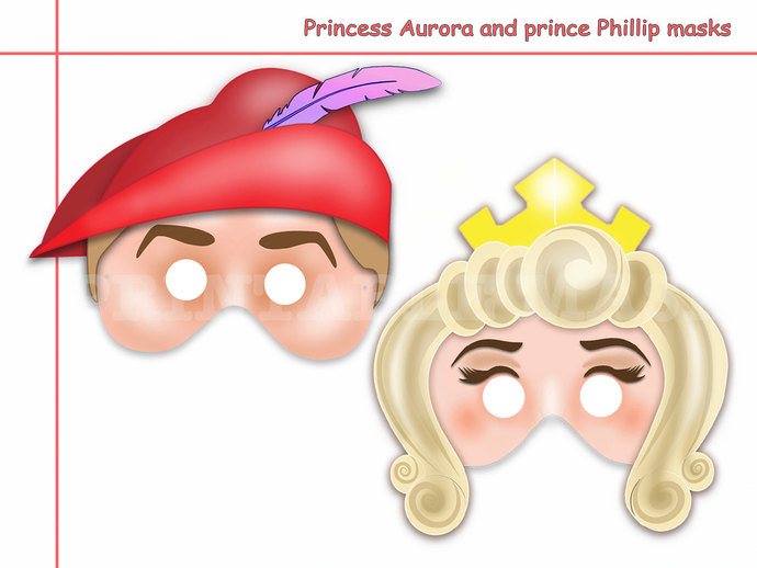 Unique 2 Princess Aurora and Prince by HolidayPartyStar on Zibbet