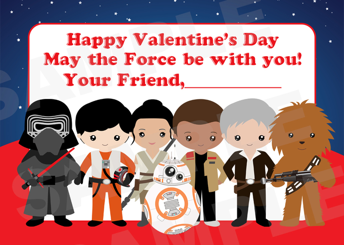Kids Star Wars Valentine\u0027s Day Cards - Printable DIY File
