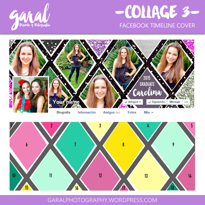 Facebook timeline cover template photo by GaralPhotography on Zibbet - facebook collage template
