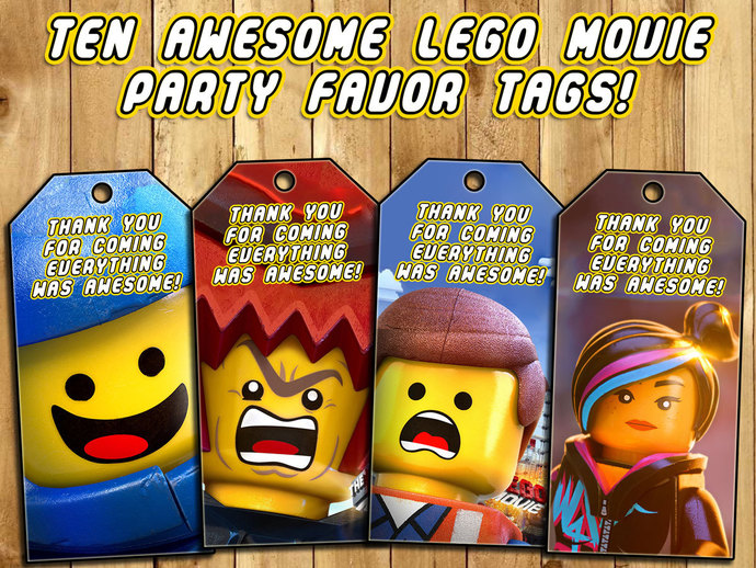 The Lego Movie Birthday Party Favor Tags by instbirthday on Zibbet