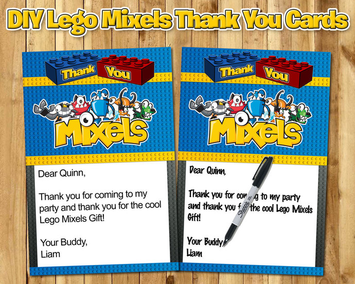 Lego Mixels Birthday Thank You Note - Lego by instbirthday on Zibbet