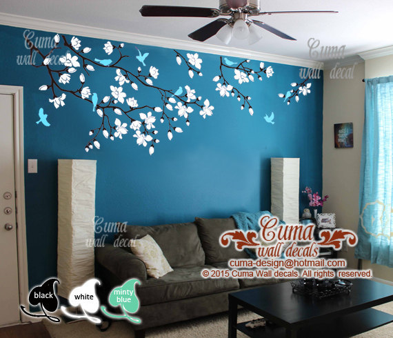 3d Wallpaper For Kid Bedroom Cherry Blossom Wall Decals Nursery White By Cuma Wall