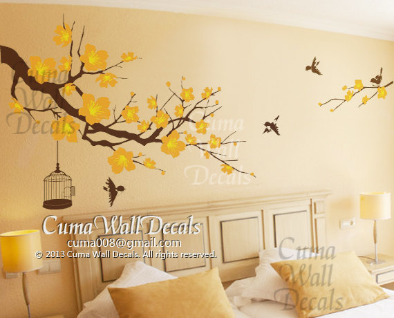 Wallpaper Ideas For Baby Girl Nursery Nursery Wall Decal Cherry Blossom Tree By Cuma Wall Decals
