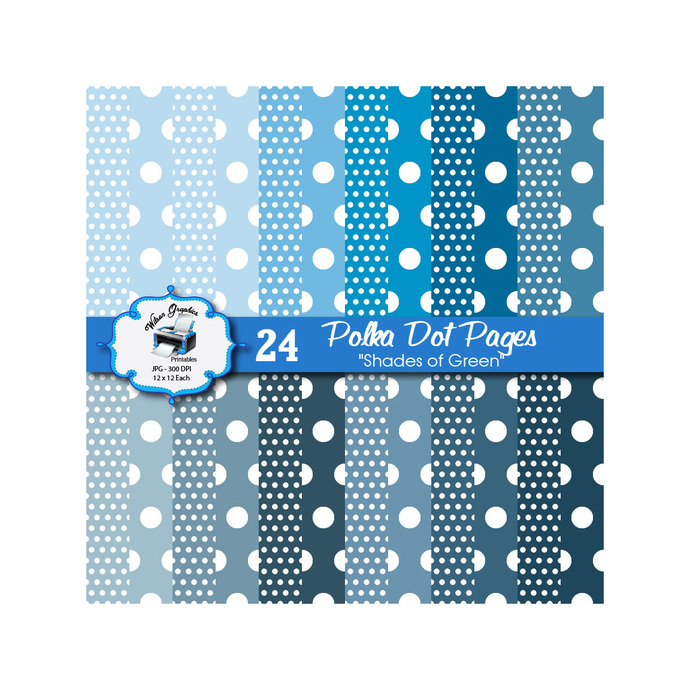Shades of Blue - 24 Printable by wilsongraphicsprintables on Zibbet