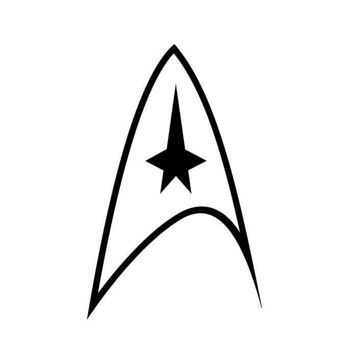 Star Trek Logo graphics design SVG DXF EPS by vectordesign on Zibbet