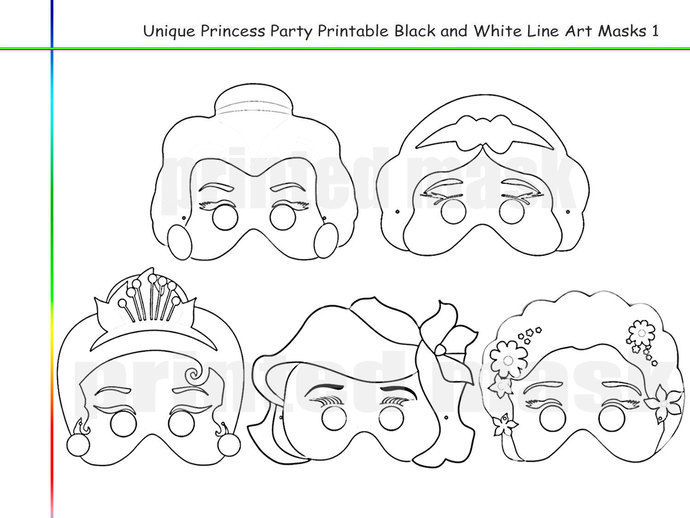 Coloring Pages Princess Party Printable by HolidayPartyStar on Zibbet