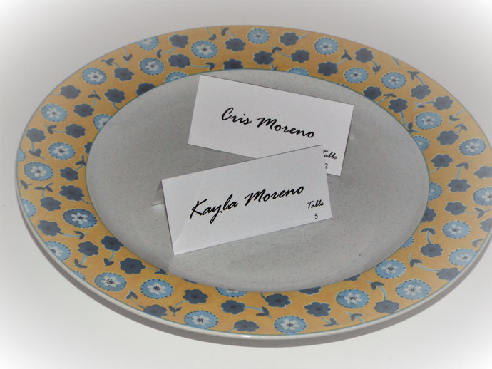 Classic Tent Style Place / Escort Cards by Tidbitdesigns on Zibbet