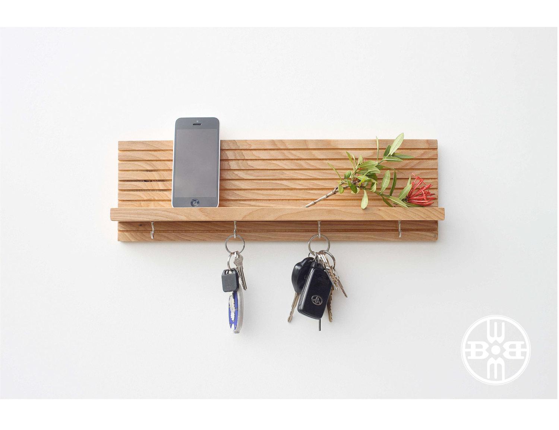 Key Holder With Shelf Modern Shelf By Woodbutcherdesigns