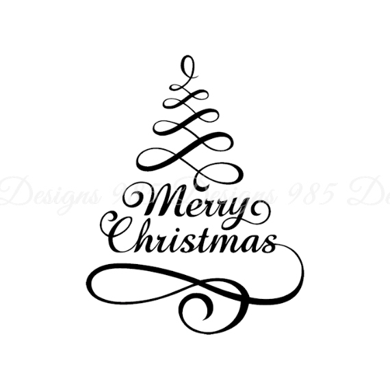 Christmas Tree Words in Ribbon SVG for by 985 Graphic Designs on - christmas tree words