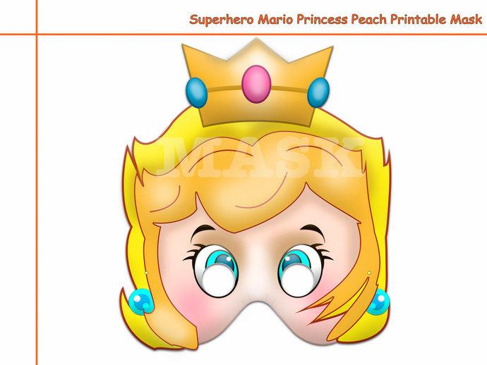 Unique 1 Hero Mario Princess Printable by HolidayPartyStar on Zibbet