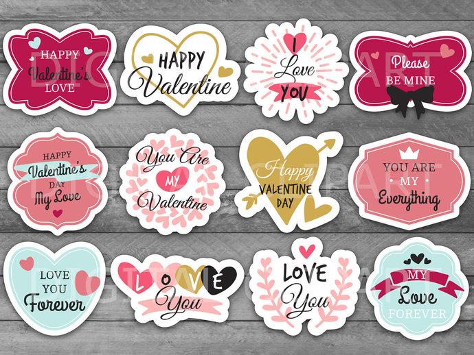 Unique Valentine\u0027s Day Printable Label by HolidayPartyStar on