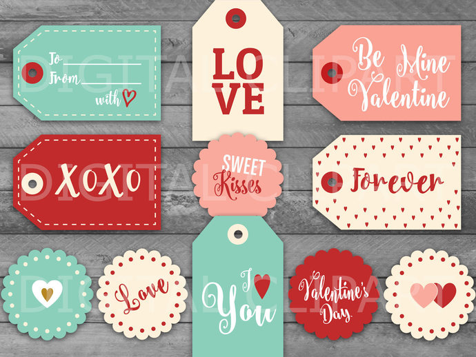 Unique Valentine\u0027s Day Printable Tags by HolidayPartyStar on