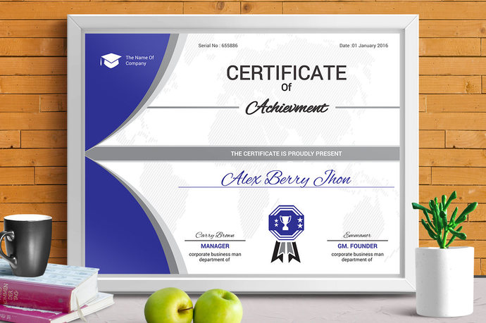 Certificate Template Corporate business by ContestDesign on Zibbet