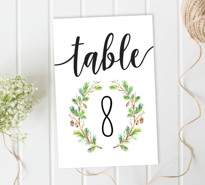 Wedding Table Numbers, Forest Table by SugarPickle Designs on Zibbet