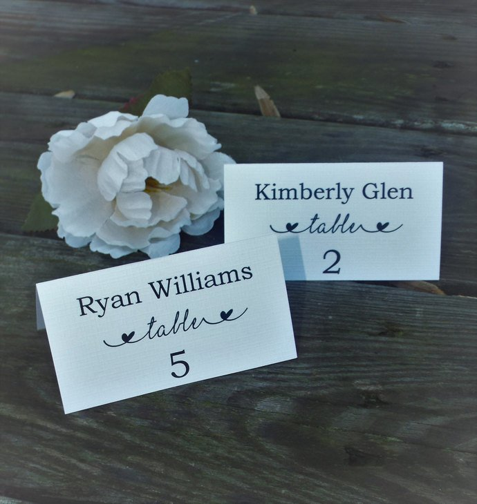 Beautiful Linen Tent Style Place Cards / by Tidbitdesigns on Zibbet