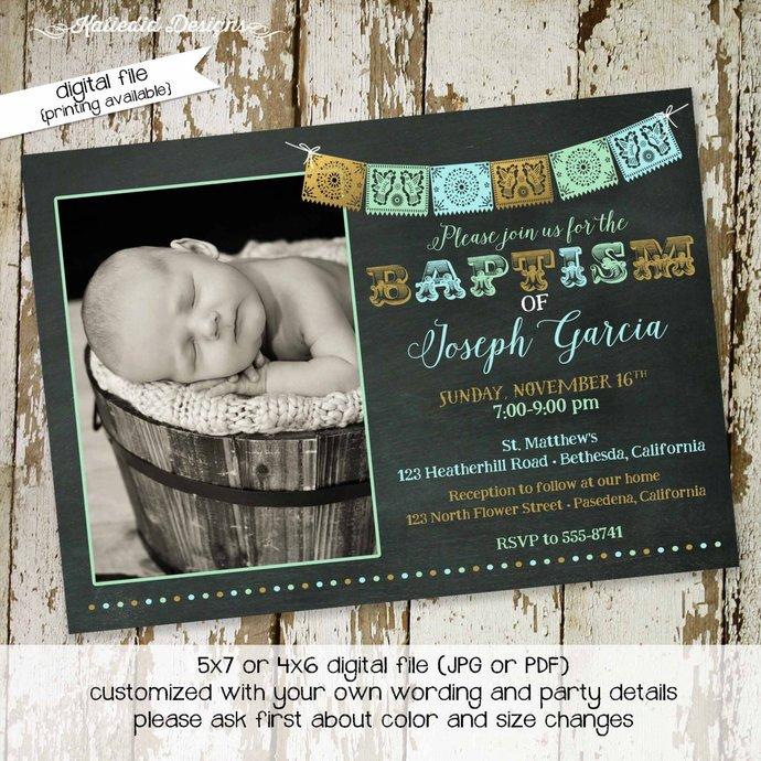 fiesta baby shower invitation spanish by Katiedid Designs on Zibbet