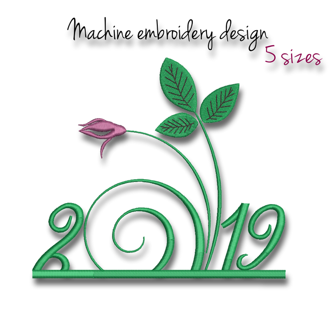 Embroidery Machine Designs Happy New Year by GretaEmbroidery on Zibbet