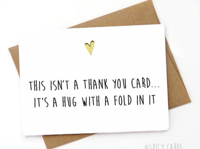 Thank you card - This isn\u0027t a thank you card, by Spicy Cards on