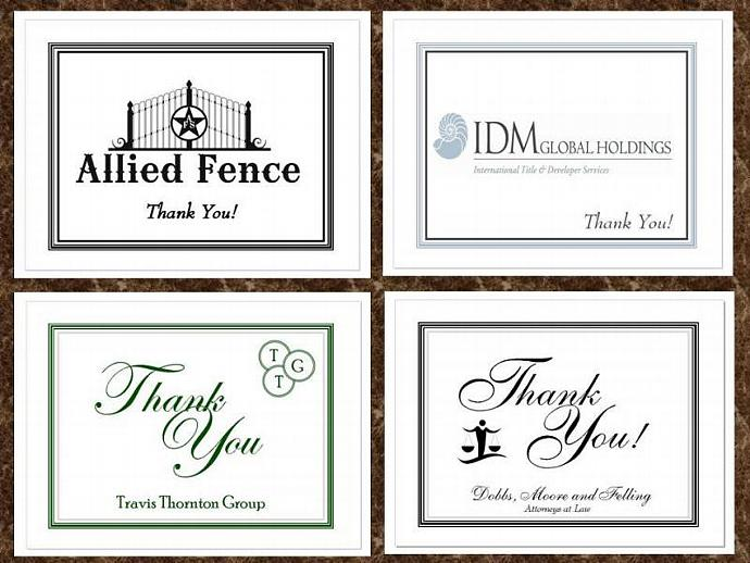 50 Personalized Folded Note or Thank You by thenotecardlady on Zibbet