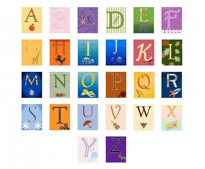 Alphabet letters flash card set, each card is 5\